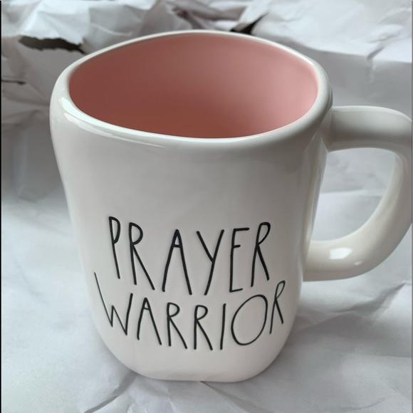 Rae Dunn prayer warrior coffee mug